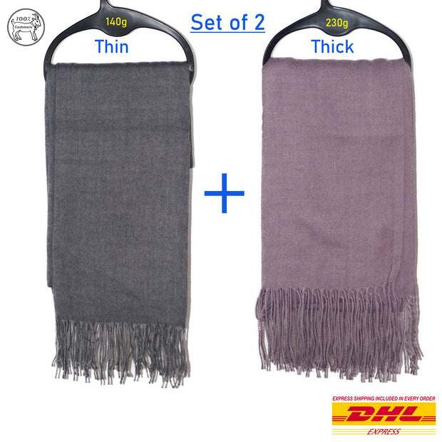 Dazoiginal Pashmina Ladies Scarfs - SET OF 2! - Dazoriginal