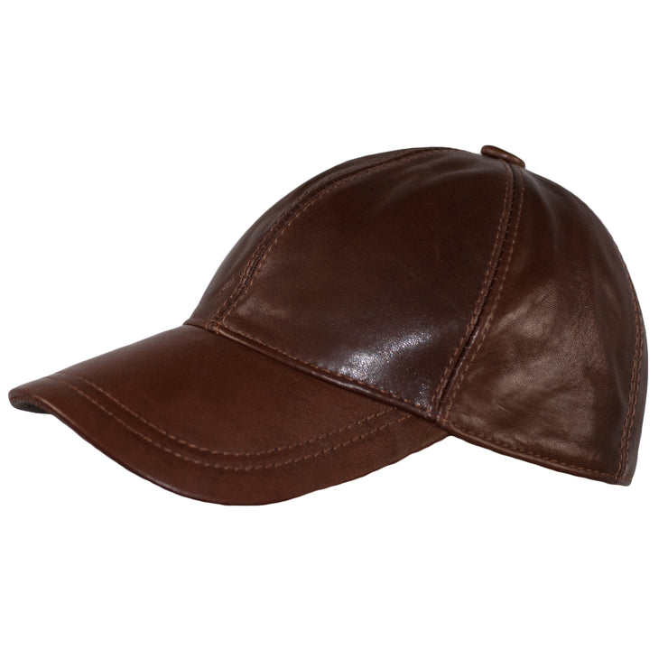 Leather BASEBALL CAPS GENUINE LEATHER PRECURVED SNAPBACK 3 Colours - Dazoriginal