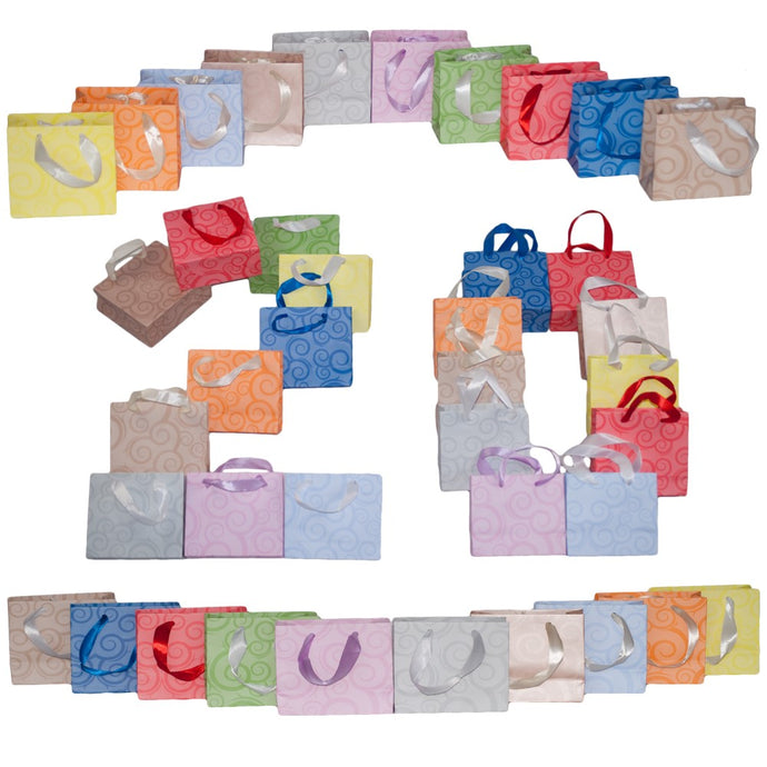 Dazoriginal Small 13x10 Gift Bags Birthday Party Bag Paper Carrier  Kraft Paper Favor Bags