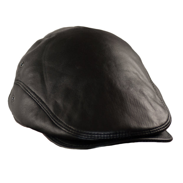 Dazoriginal Flat Cap Lambskin Leather Driving Hat Flat Cap Leather Hat Men's Newsboy Cap Ivy - Dazoriginal