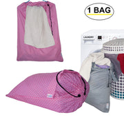 Extra Large Laundry Bag Cotton Drawstring Bags Washing Basket Fabric Folable Hamper Wash Bag - Dazoriginal