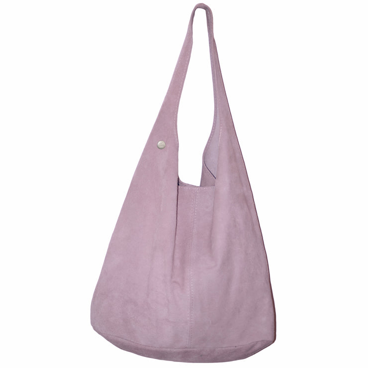 Dazoriginal Italian Suede Hobo Bags Zipper Closure