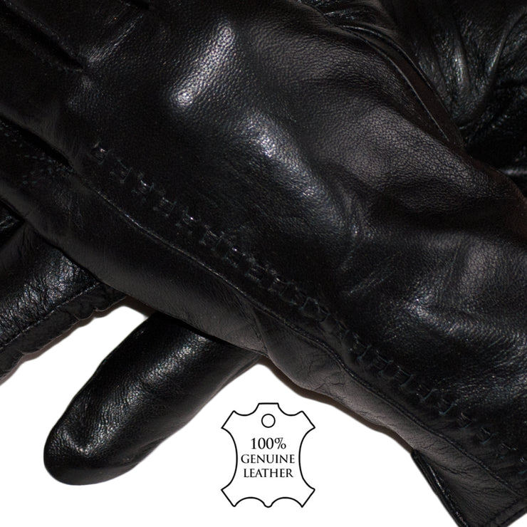 Black Leather Gloves Womens - Dazoriginal