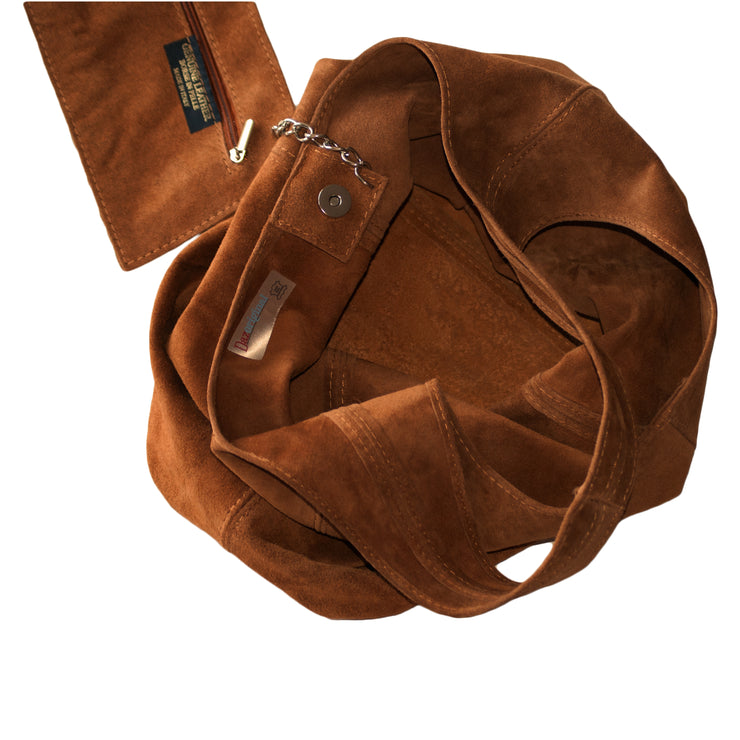 Suede Hobo Bags Handbag Shoulder Bag Slouch Italian Leather Women 10 Colours - Dazoriginal