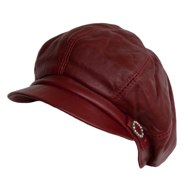 Dazoriginal Leather Womens Big BakerBoy Cap - Dazoriginal