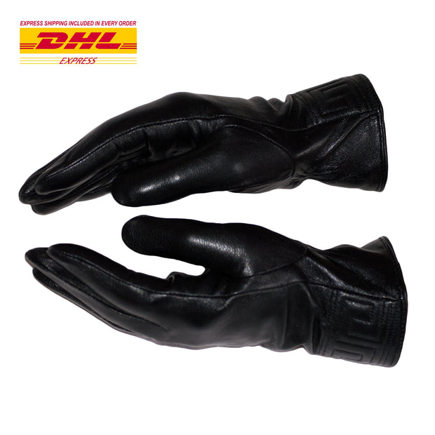Black Leather Gloves Womens Winter Gloves Wool Soft Black Leather Touchscreen - Dazoriginal