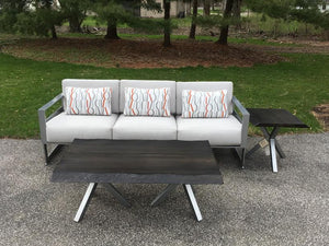 Castelle Eclipse Cast Aluminum Sofa- Showroom Inventory