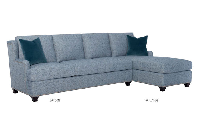 Wesley Hall 2056 Macintosh Chaise Sectional