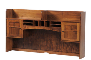 Rivertowne L-Desk with Two Door Hutch