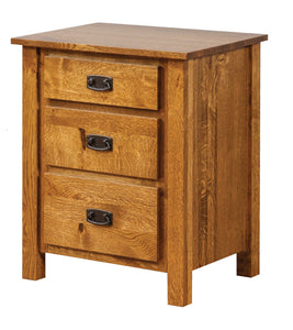 Dutch Country Mission 3 Drawer Nightstand