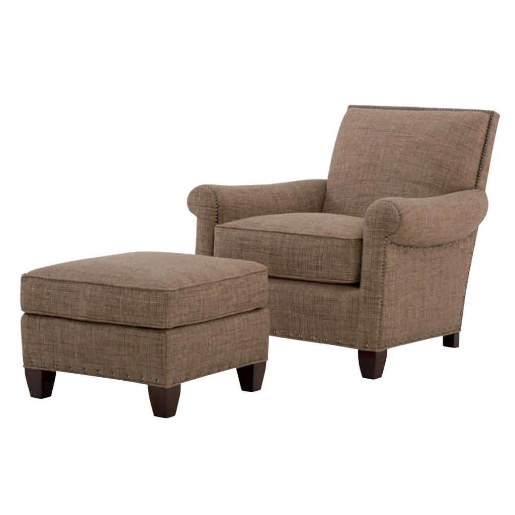 Wesley Hall 582 Paxton Chair and 582-24 Paxton Ottoman