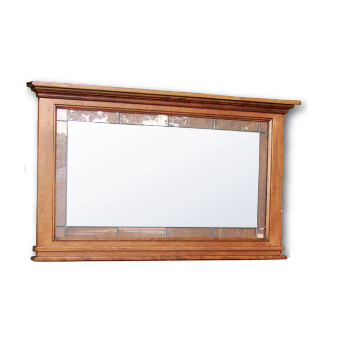 Brooklyn Deluxe Mirror with Leaded Glass