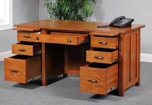 "Mission 60"" Executive Desk"