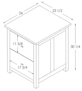 Mission 2-Drawer File Cabinet