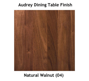 Copeland Audrey Fixed Top Dining Table in Walnut