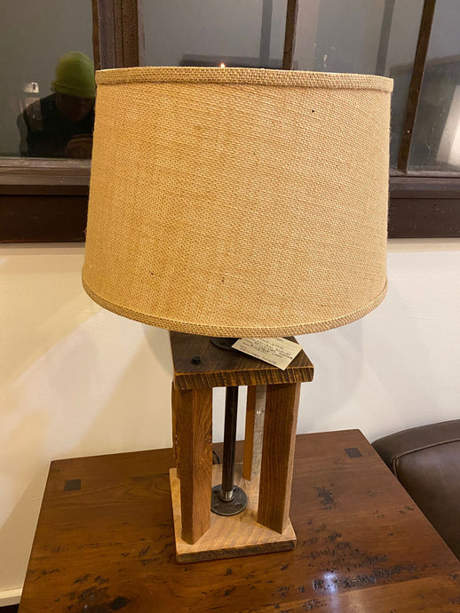 Reclaimed Barn Wood Table Lamp