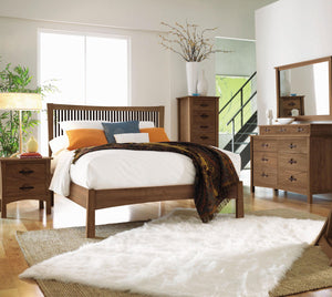 Copeland Berkeley Bed with Walnut Spindles - Queen Size