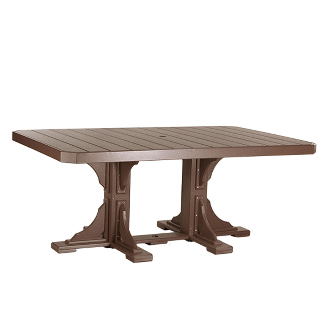 LuxCraft Poly 4' x 6' Rectangular Dining Table