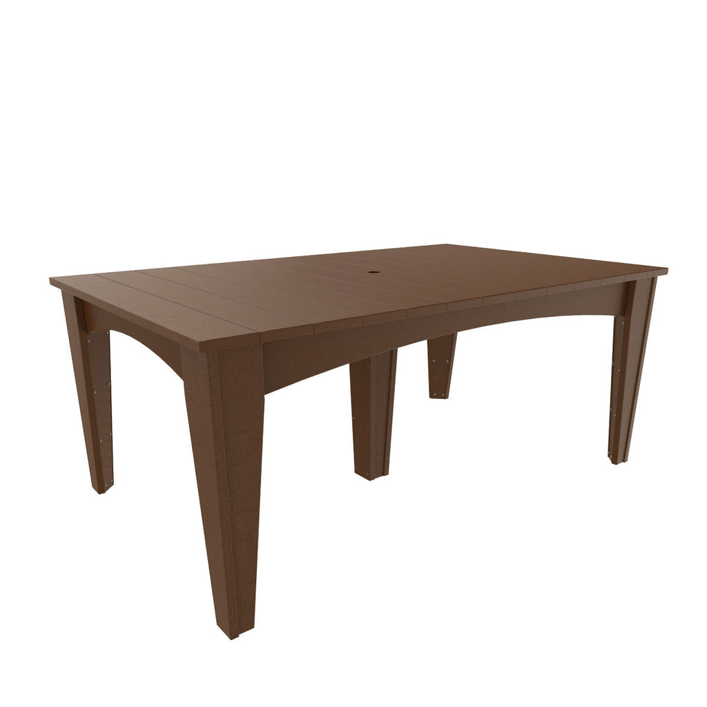 "LuxCraft Island 44""x 72"" Rectangle Dining Table"