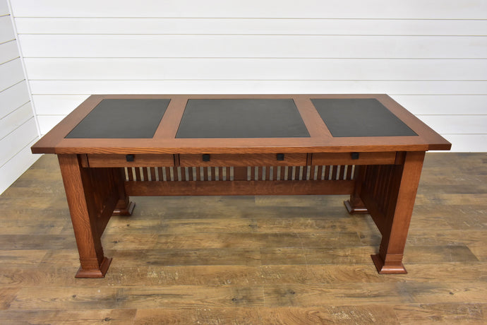 Westmoreland Desk with Triple Leather Inserts