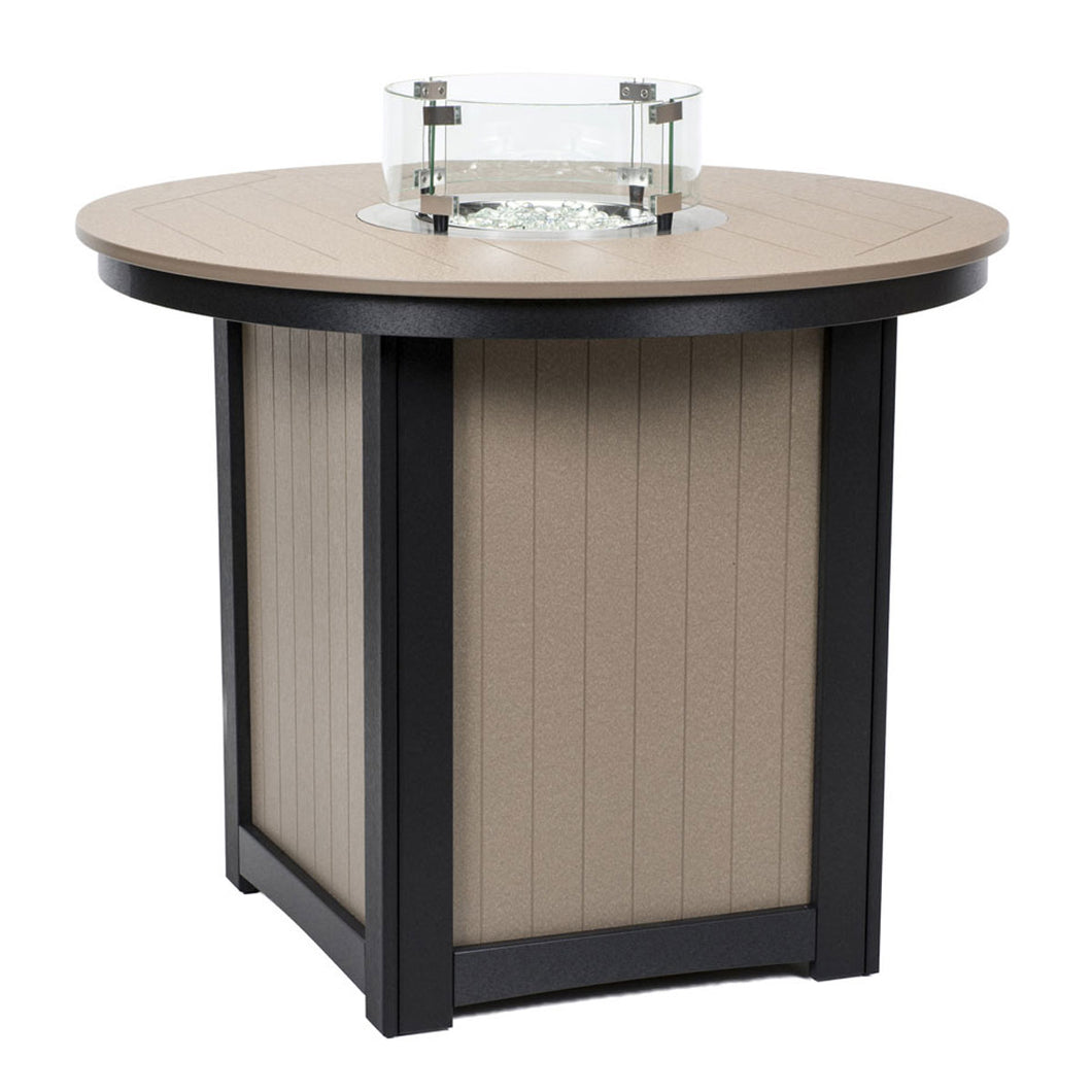 Berlin Gardens Donoma Round Poly Top Counter Height Fire Table