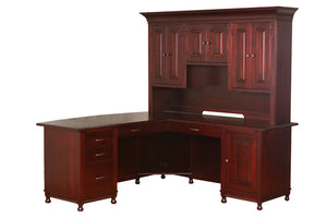 "Henry Stephens 3 Piece ""L"" Corner Desk"