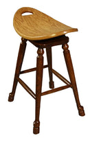 Load image into Gallery viewer, Swivel Saddle Stool