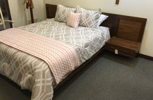 "Load image into Gallery viewer, Copeland Moduluxe 35"" High Plinth Base Queen Bed with Clapboard"