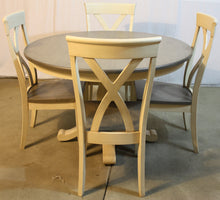 "Load image into Gallery viewer, Brooke 48"" Round Solid Top Table and (4) Brooke Side Chairs"