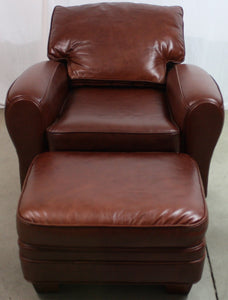 McKinley Leather Stetson Varitilt Chair and Ottoman