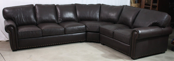 CC Leather 550 Custom Program Sectional