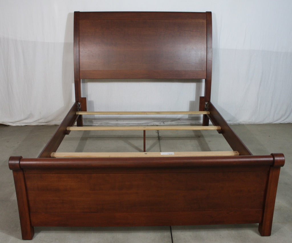 Crescent Sleigh Bed - Queen Size