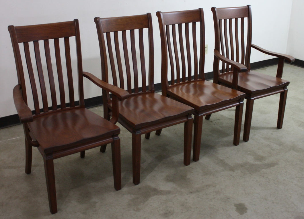 Set of Four Arbella Dining Chairs - (2) Arms, (2) Sides