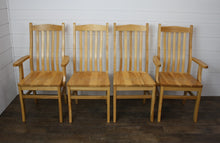 Load image into Gallery viewer, Set of Four Lincoln Dining Chairs - (2) Arms, (2) Sides