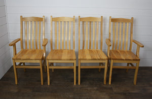 Set of Four Lincoln Dining Chairs - (2) Arms, (2) Sides