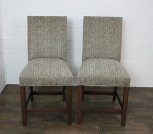 "Pair of 24"" Hudson Side Bar Chairs"