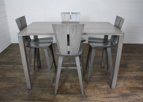 Unica Counter Table and (4) Copeland Axis Counter Stool