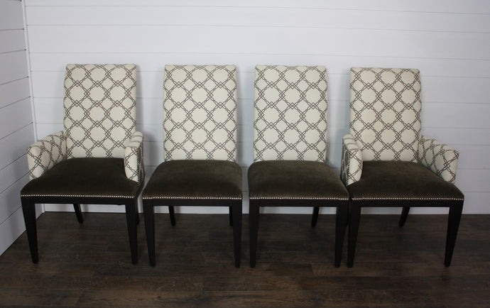 Set of Four Piccadilly Dining Chairs by Mackenzie Dow - (2) Arms, (2) Sides