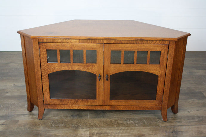Old World #40 Corner TV Stand - Showroom Inventory