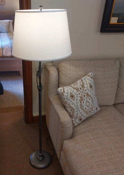 Hubbardton Forge Forged Leaves and Vase Floor Lamp