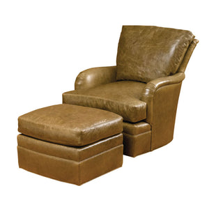 Wesley Hall L7087 Oscar Leather Swivel Glider