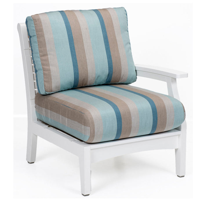 Berlin Gardens Classic Terrace Left Arm Club Chair - Sectional Piece