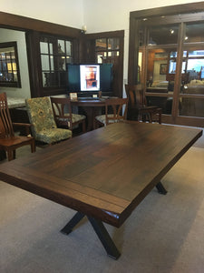 "Milltown Double Pedetal Table 42""W x 66""L"