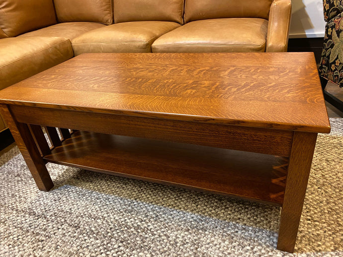 Mission Coffee Table with Drawer-Showroom Inventory