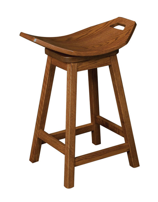 Mission Swivel Saddle Stool