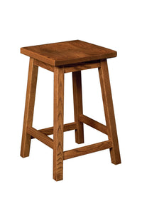 "24"" Mission Bar Stool with Scoop Seat"