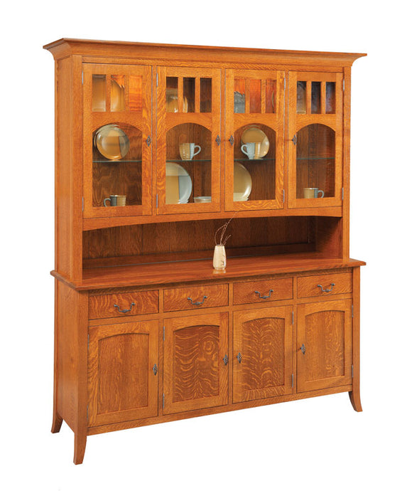 Old World Four Door China Hutch