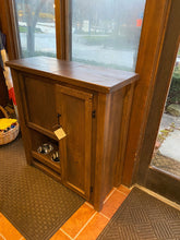 Load image into Gallery viewer, Rustic Pet Armoire with Feeder- Showroom Inventory