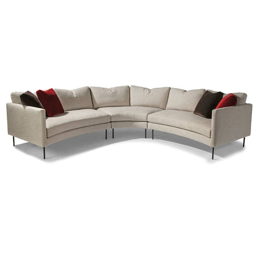 Thayer Coggin 1431 Slice Sectional with Dark Bronze Legs