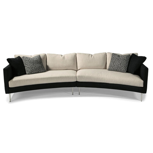 Thayer Coggin 1431 Slice Sofa Sectional with Polished Stainless Steel Legs